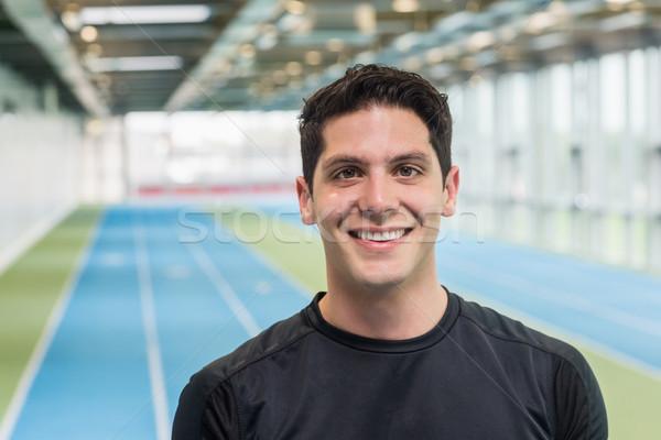 Fit man on the running track Stock photo © wavebreak_media
