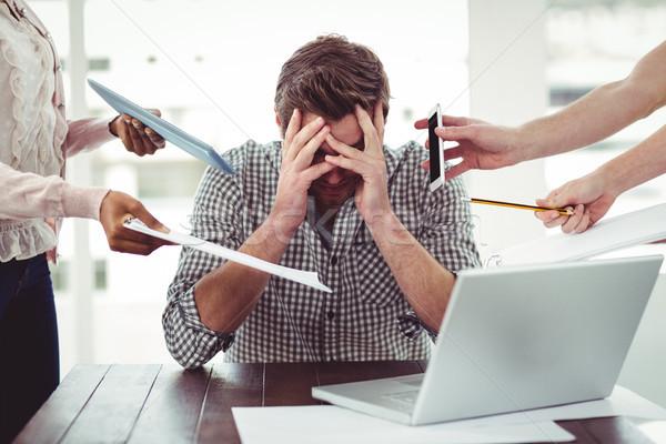 Businessman stressed out at work Stock photo © wavebreak_media