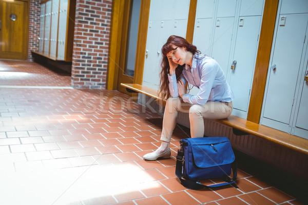 зрелый студент чувство прихожей университета Сток-фото © wavebreak_media