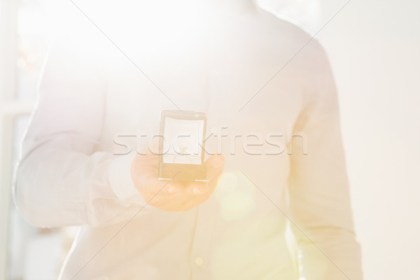 男 婚約指輪 クローズアップ シャツ 男性 ストックフォト © wavebreak_media