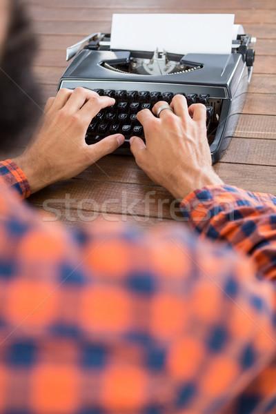 ヒップスター 男 タイプライター 作業 スーツ デジタル ストックフォト © wavebreak_media