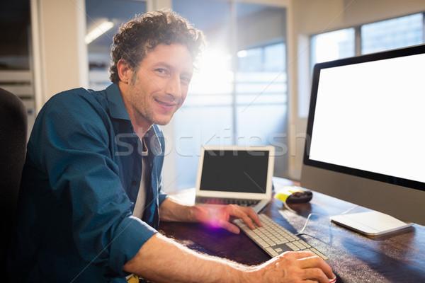 Businessman working on computer Stock photo © wavebreak_media