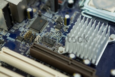 Electronic circuit board with processor Stock photo © wavebreak_media