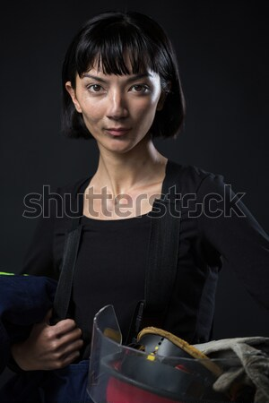 Female karate player performing karate stance Stock photo © wavebreak_media