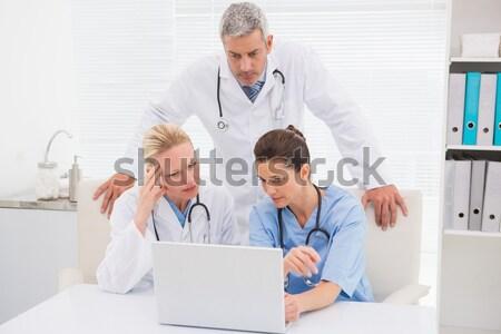 Chirurg lekarza xray sprawozdanie kliniki Zdjęcia stock © wavebreak_media