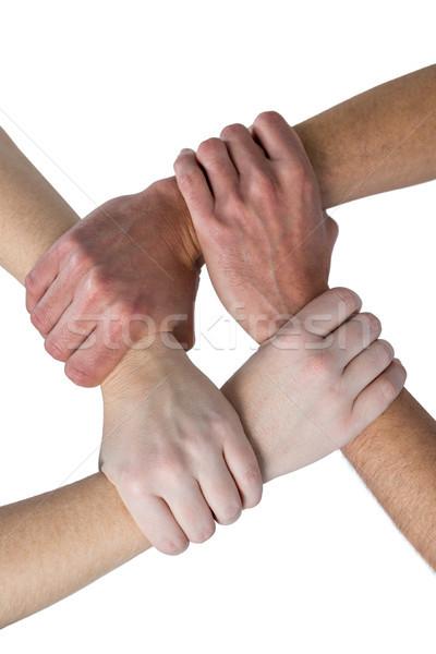 Mãos mão cadeia branco mulher homem Foto stock © wavebreak_media