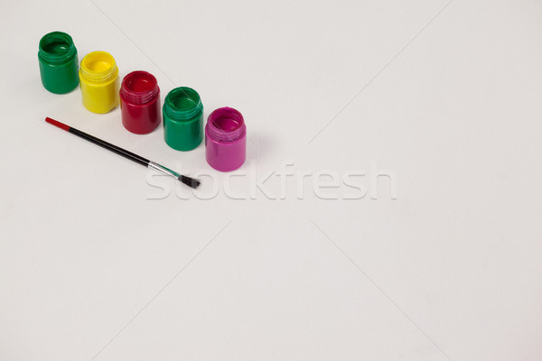 Vízfesték ecset fehér oktatás asztal üveg Stock fotó © wavebreak_media