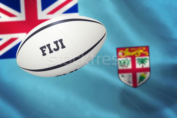 összetett kép Fidzsi-szigetek rögbilabda közelkép zászló Stock fotó © wavebreak_media
