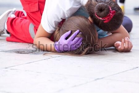 Stock fotó: Csecsemő · elsősegély · képzés · mesterséges · lélegeztetés · baba · orvosi