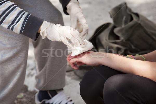 Bandaging Stock photo © wellphoto
