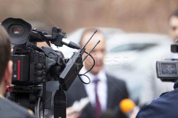 Covering an event with a video camera Stock photo © wellphoto