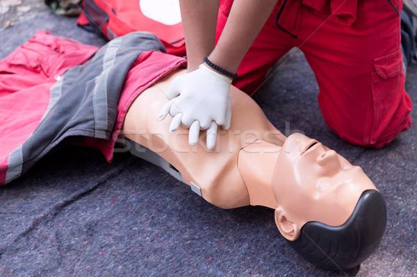 Primeros auxilios formación detalle salud medicina Foto stock © wellphoto
