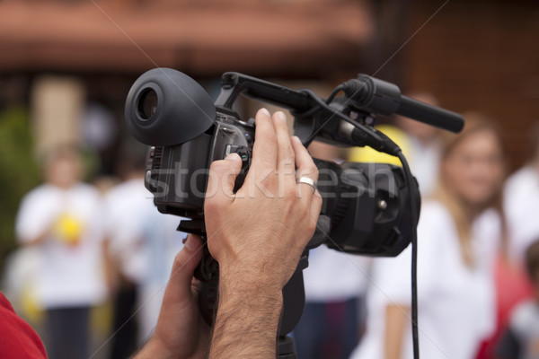 Olay video kamera televizyon teknoloji mikrofon Stok fotoğraf © wellphoto