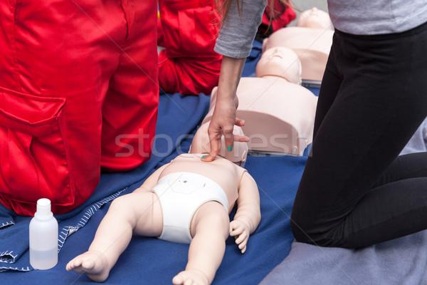 Primeiro socorro treinamento bebê médico Foto stock © wellphoto