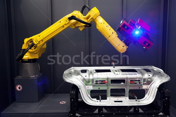Robotachtige arm 3D scanner optische Stockfoto © wellphoto