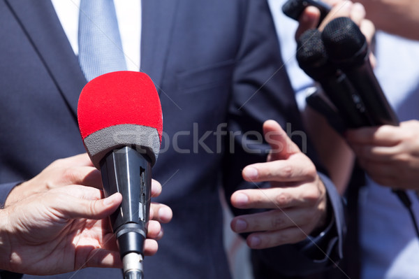 TV or media interview with politician or business person Stock photo © wellphoto