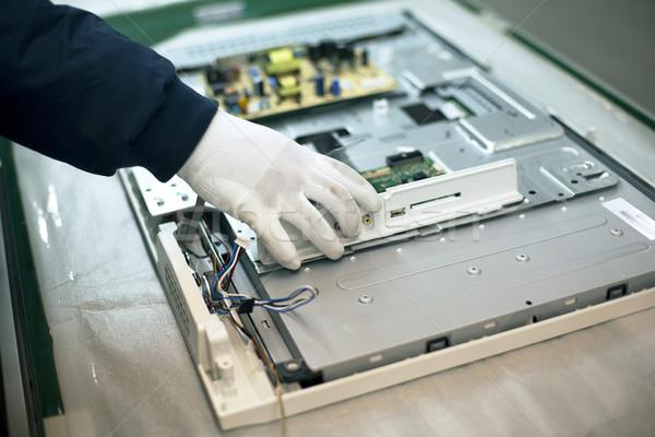 Manual trabalhar eletrônico indústria técnico tecnologia Foto stock © wellphoto