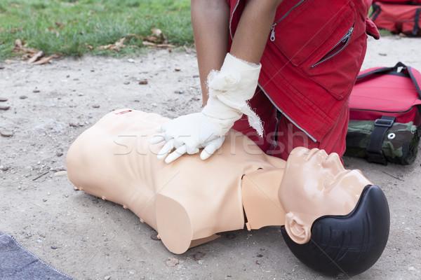 Eerste hulp opleiding arts hart massage Stockfoto © wellphoto