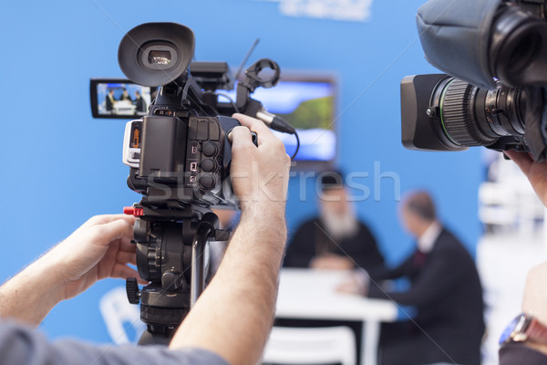 Videocamera evenement film technologie video studio Stockfoto © wellphoto