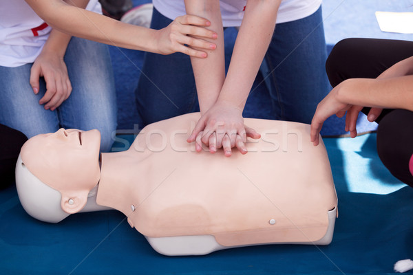 First aid training Stock photo © wellphoto