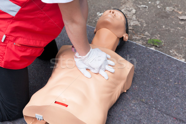 First aid training concept. CPR. Stock photo © wellphoto