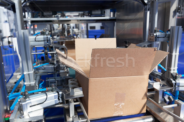 Stockfoto: Karton · pakket · vak · machine · automatisch