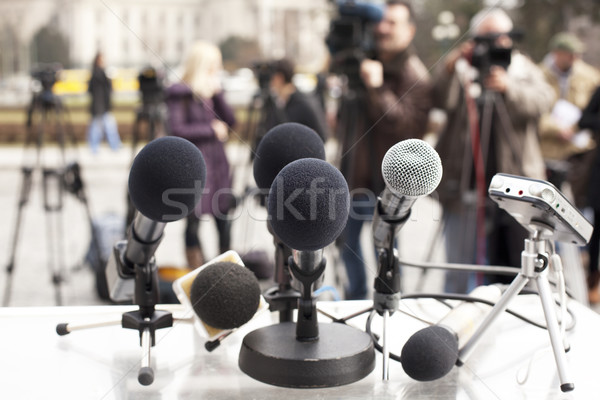 News conference Stock photo © wellphoto