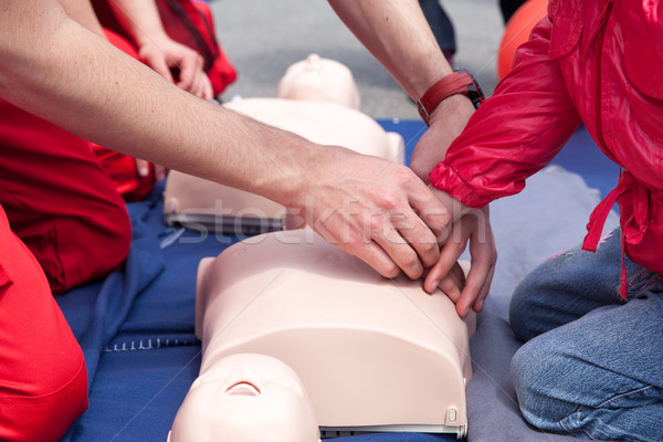 First aid training detail Stock photo © wellphoto