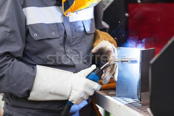 çalışmak kaynak işçi maske Metal Stok fotoğraf © wellphoto