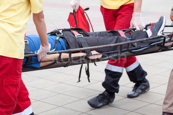 Herido persona acción primeros auxilios formación Foto stock © wellphoto