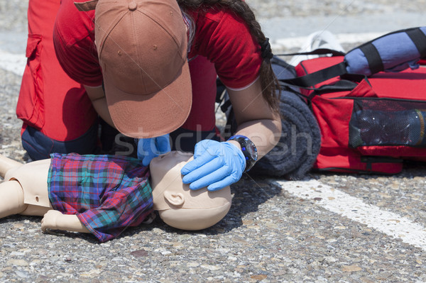 Infant dummy first aid Stock photo © wellphoto