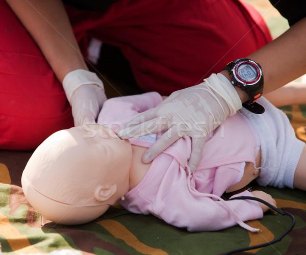 CPR training Stock photo © wellphoto