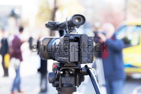 Esemény videókamera televízió kommunikáció videó információ Stock fotó © wellphoto
