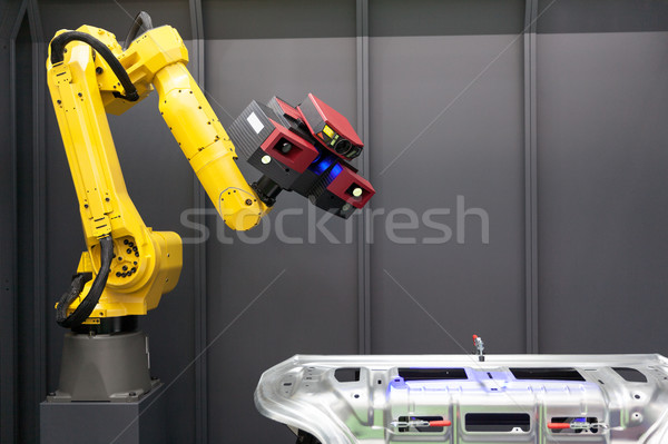 Automated scanning. 3D Scanner mounted on robotic arm. Stock photo © wellphoto