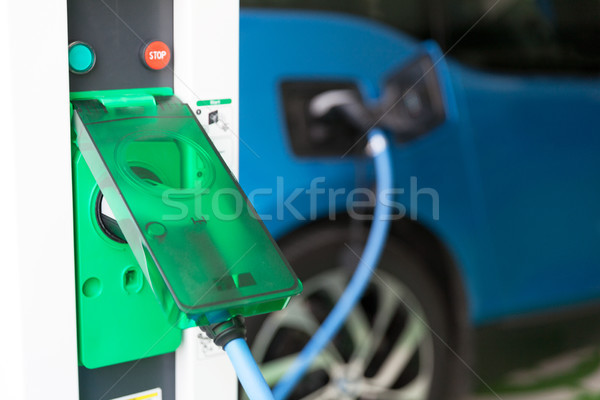 Batterie voiture électrique électriques véhicule voiture technologie Photo stock © wellphoto