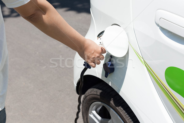 Electric car charging Stock photo © wellphoto