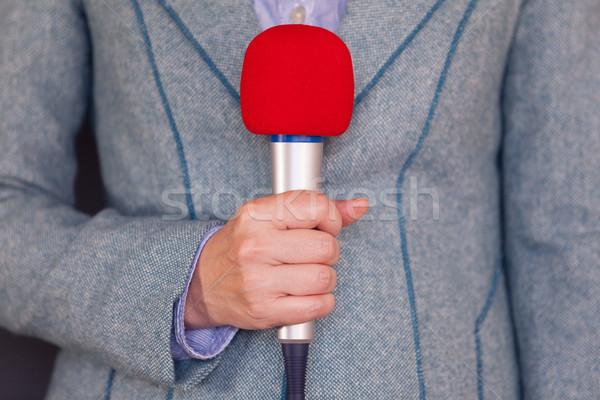 Journalist. Media reporting. Stock photo © wellphoto