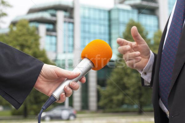Press interview Stock photo © wellphoto