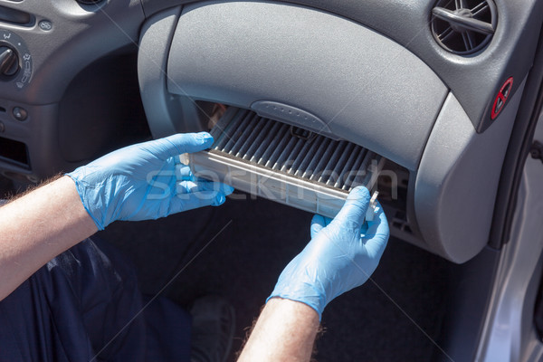 Replacing the cabin air filter Stock photo © wellphoto