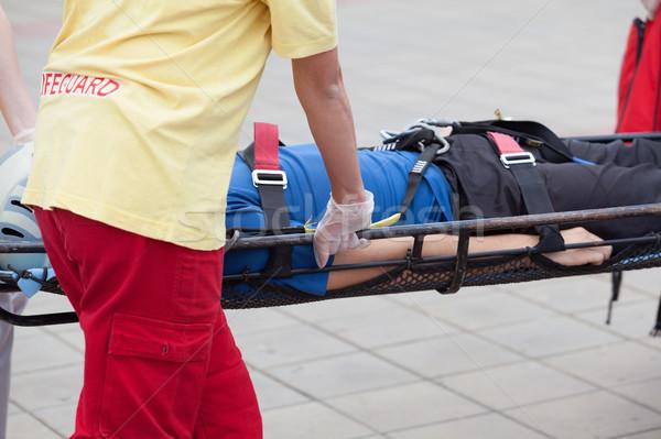 Ferido pessoa ação primeiro socorro treinamento Foto stock © wellphoto