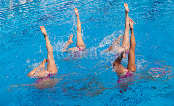 Synchronized swimmers Stock photo © wellphoto