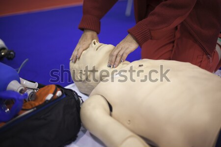 Premiers soins formation mort aide Photo stock © wellphoto