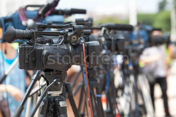 News conference. TV broadcasting.  Stock photo © wellphoto