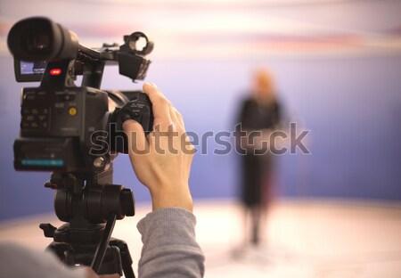 Caméra vidéo événement travaux technologie vidéo médias Photo stock © wellphoto