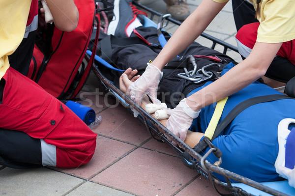 Stok fotoğraf: Ilk · yardım · eğitim · detay · eylem · doktor