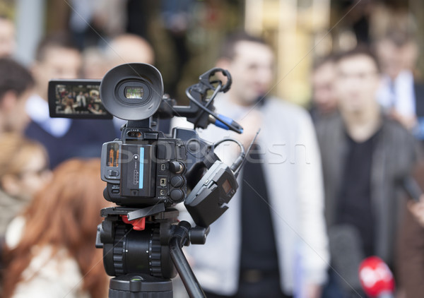 Media coverage of an event Stock photo © wellphoto