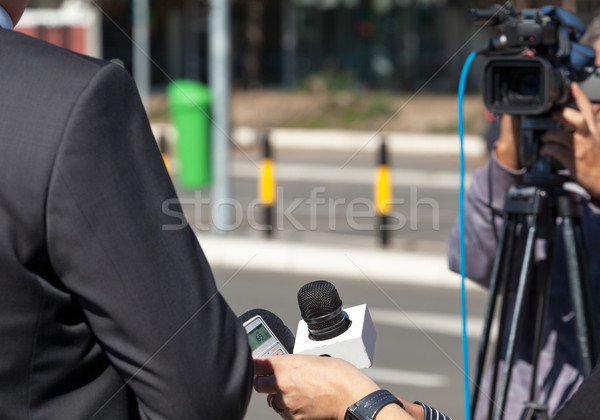 TV interview. News conference. Stock photo © wellphoto