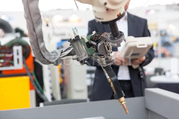 Industriali saldatura robotico braccio offuscata operatore Foto d'archivio © wellphoto