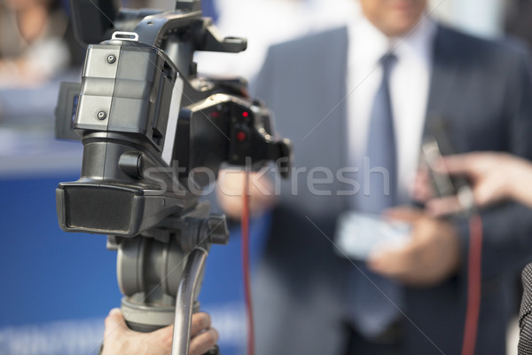 TV interview Stock photo © wellphoto