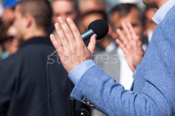 Politician or businessman speech Stock photo © wellphoto